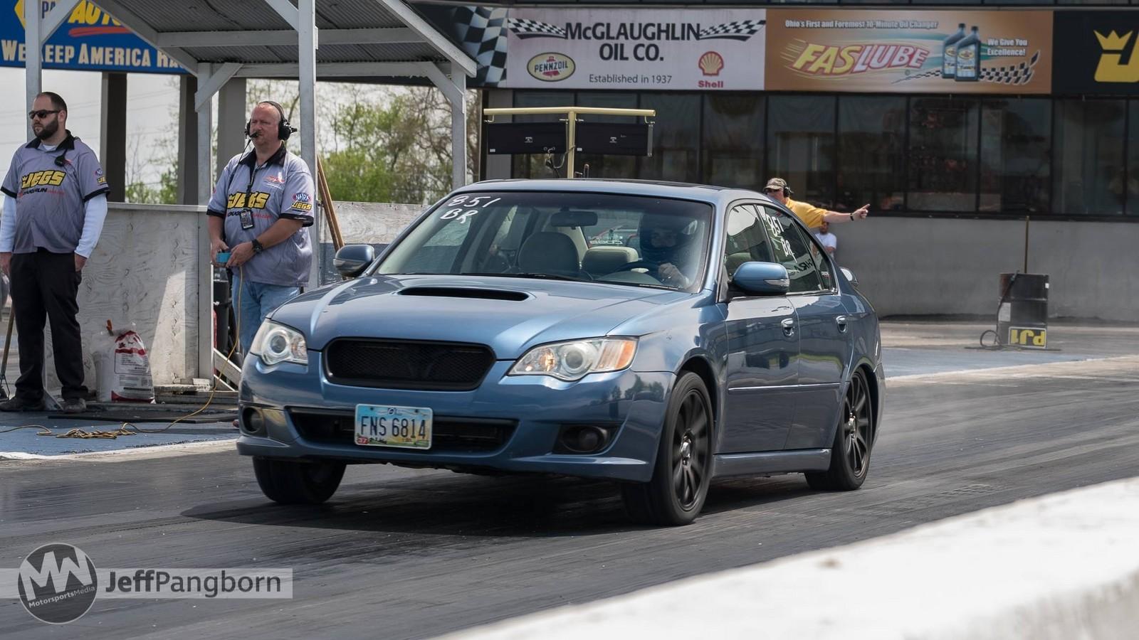 Blue 2008 Subaru Legacy Gt