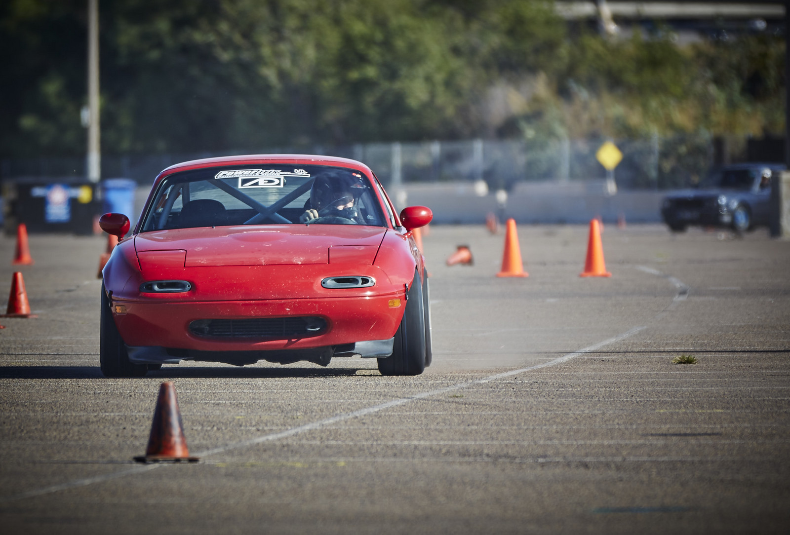 Red 1992 Mazda Miata MX5