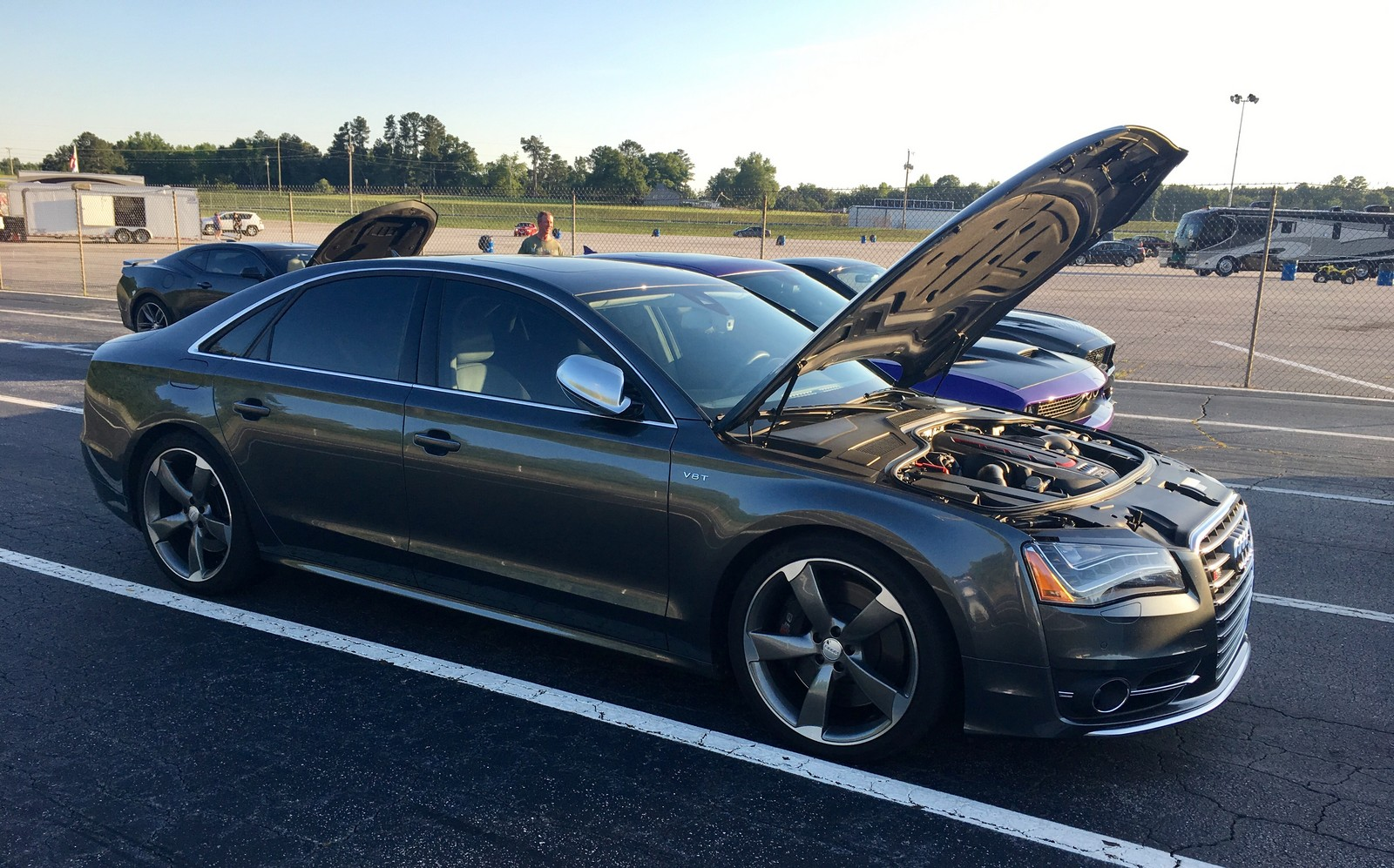 Stock 2014 Audi S8 1 4 Mile Drag Racing Timeslip Specs 0 60