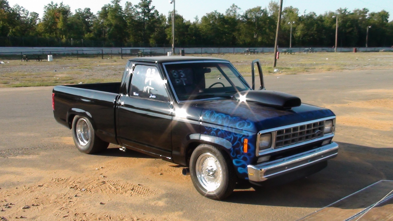 black 1983 Ford Ranger pickup licensed for highway