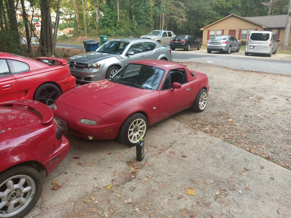 red 1990 Mazda Miata MX5
