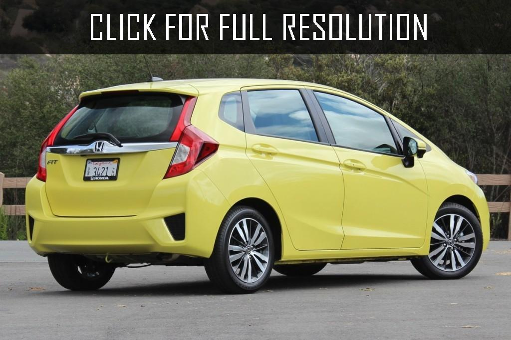 Yellow 2015 Honda FIT LX