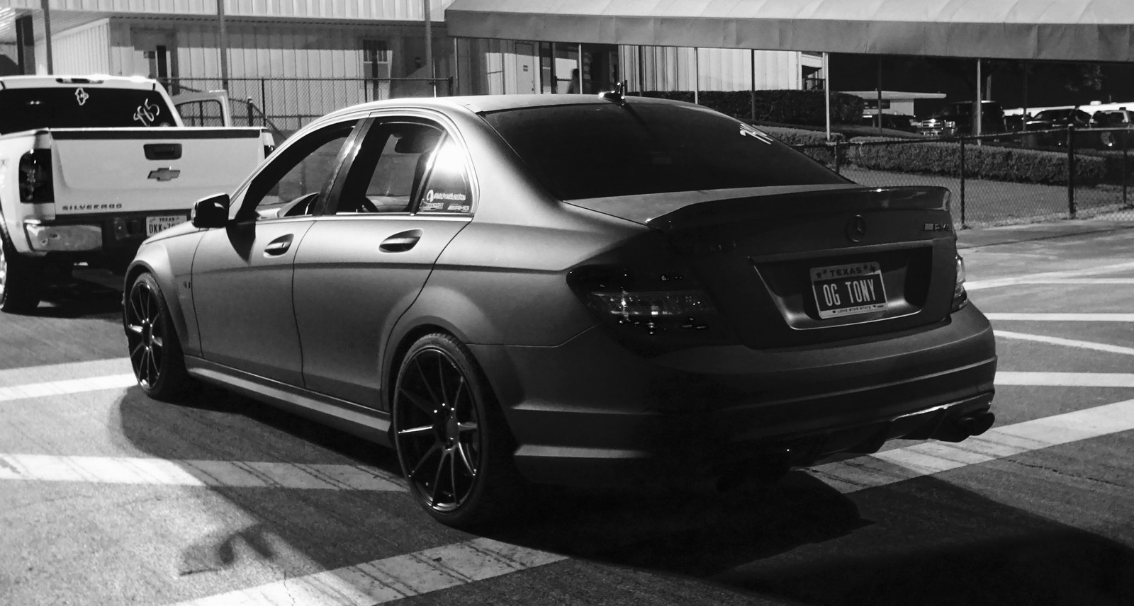 matte black  2010 Mercedes-Benz C63 AMG