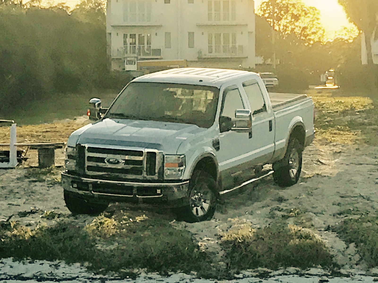 White 2008 Ford F250 Lariat
