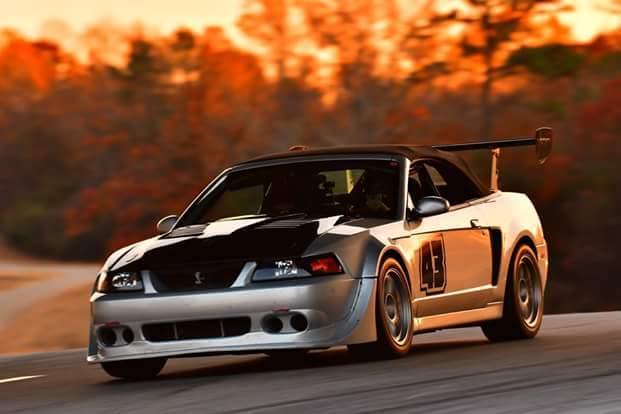 Silver 2003 Ford Mustang Cobra Road Race Car