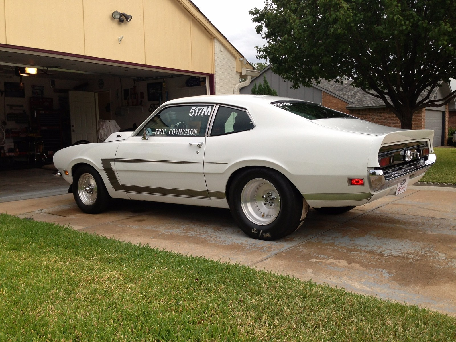 1972 white ford maverick picture mods upgrades