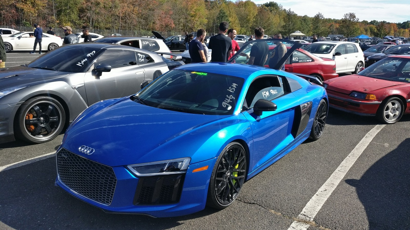 2017 audi r8 v10 plus 1/4 mile drag racing timeslip specs 0-60