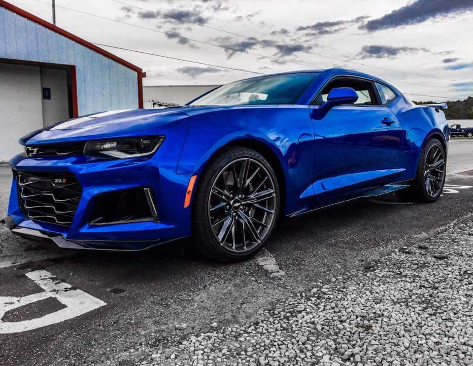 2017 Hyper Blue Metallic Chevrolet Camaro Zl1 Pictures