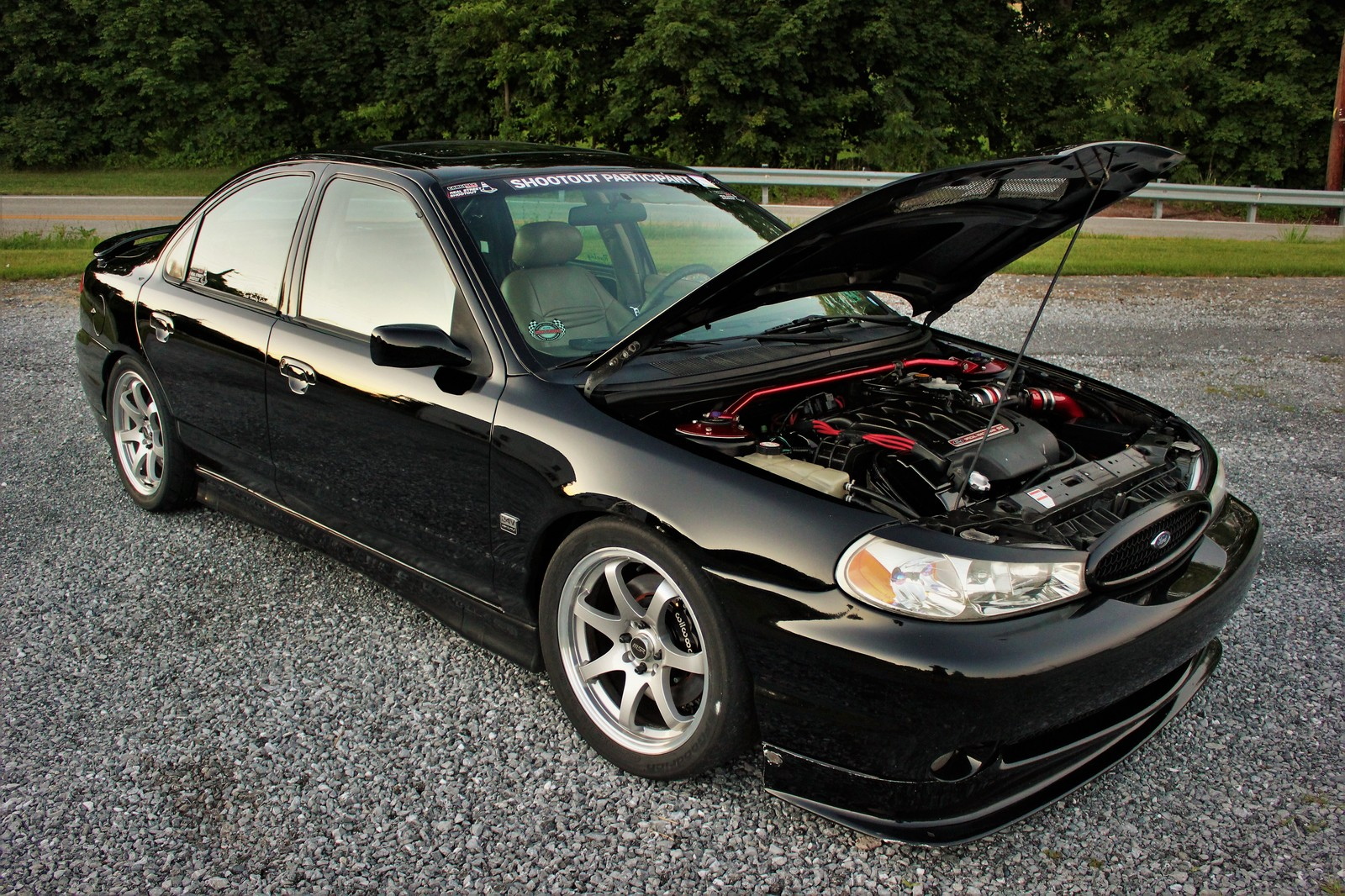 Black 2000 Ford Contour SVT