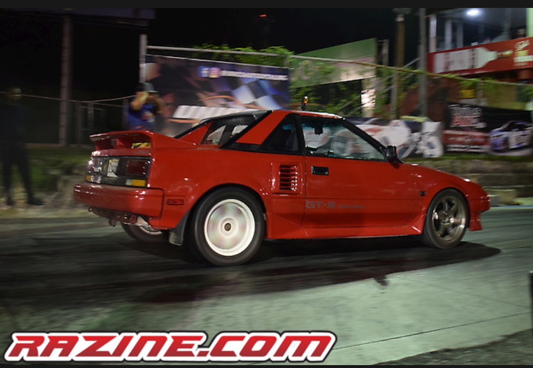 Red 1986 Toyota MR2