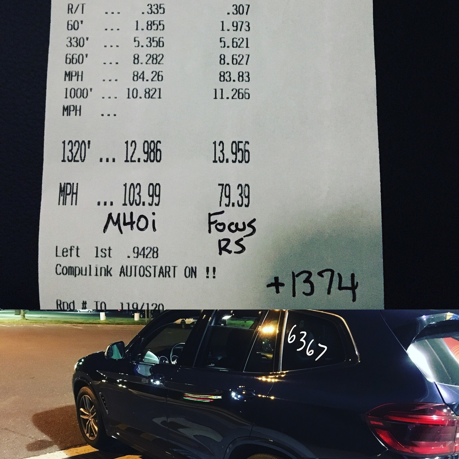 Stock 2018 Bmw X3 M40i 1 4 Mile Trap Speeds 0 60 Dragtimes Com