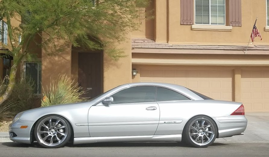 Silver 2004 Mercedes-Benz CL600 RaceIQ Performance
