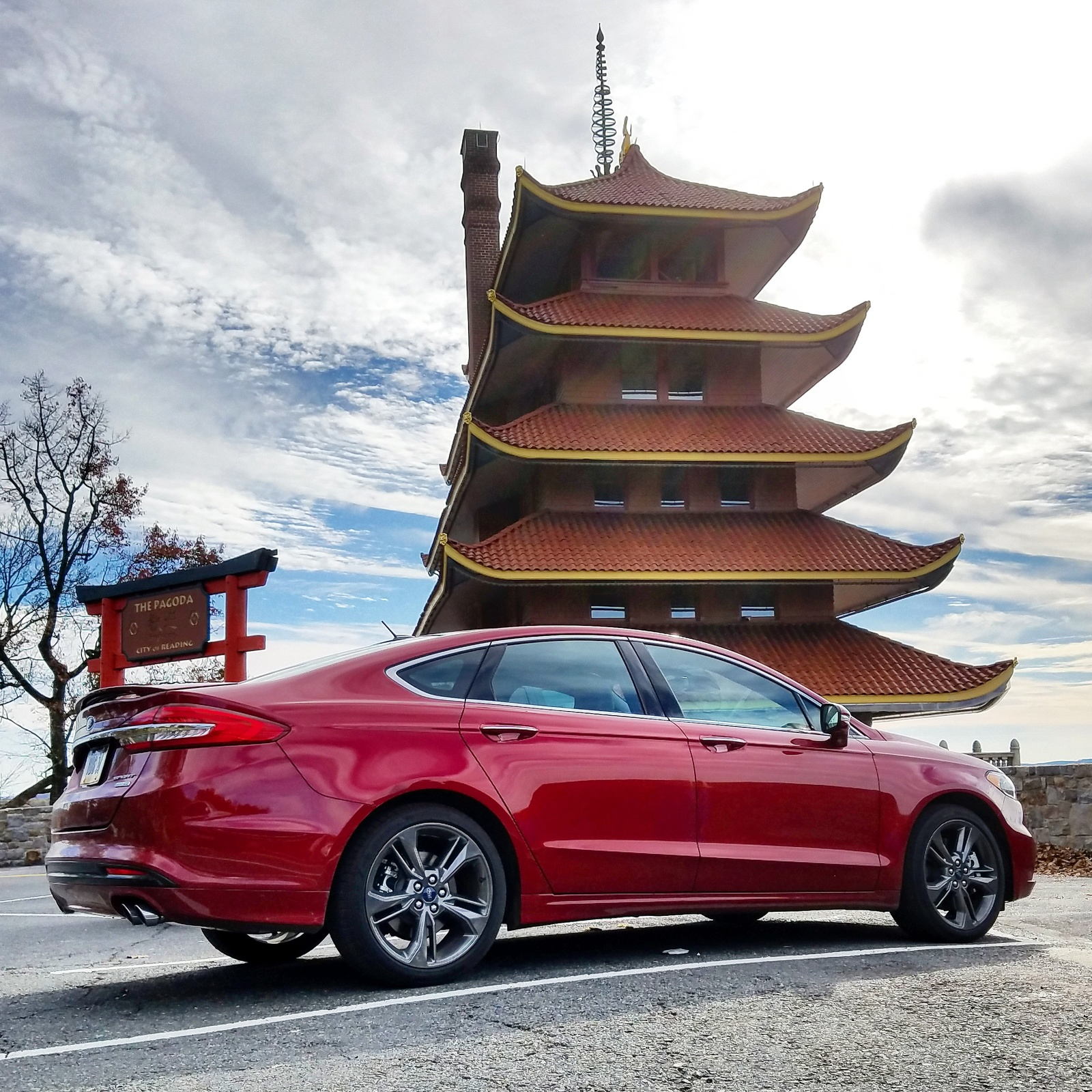 2018 Ruby Red Ford Fusion Sport picture, mods, upgrades