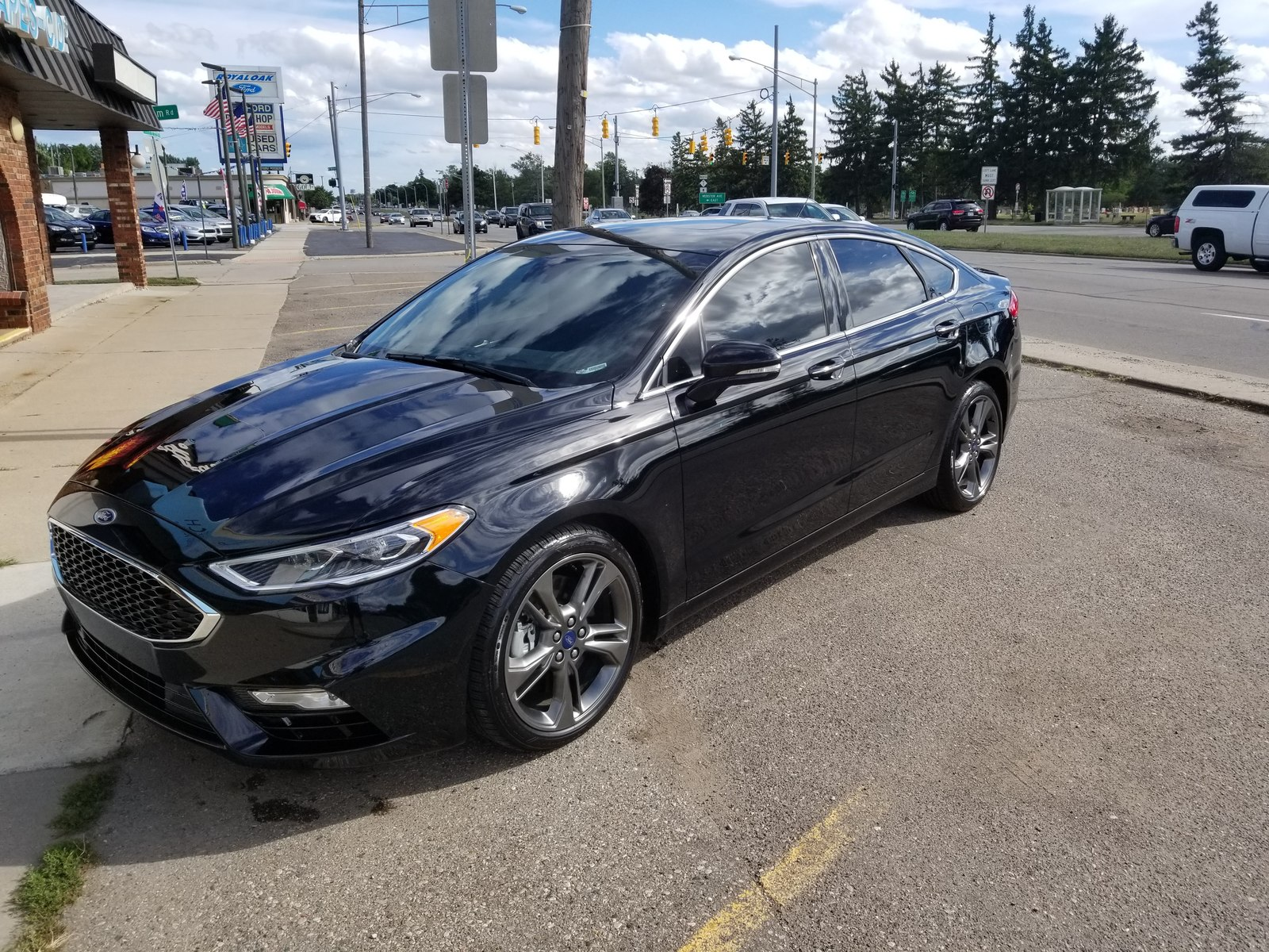 2018 black ford fusion sport picture mods upgrades