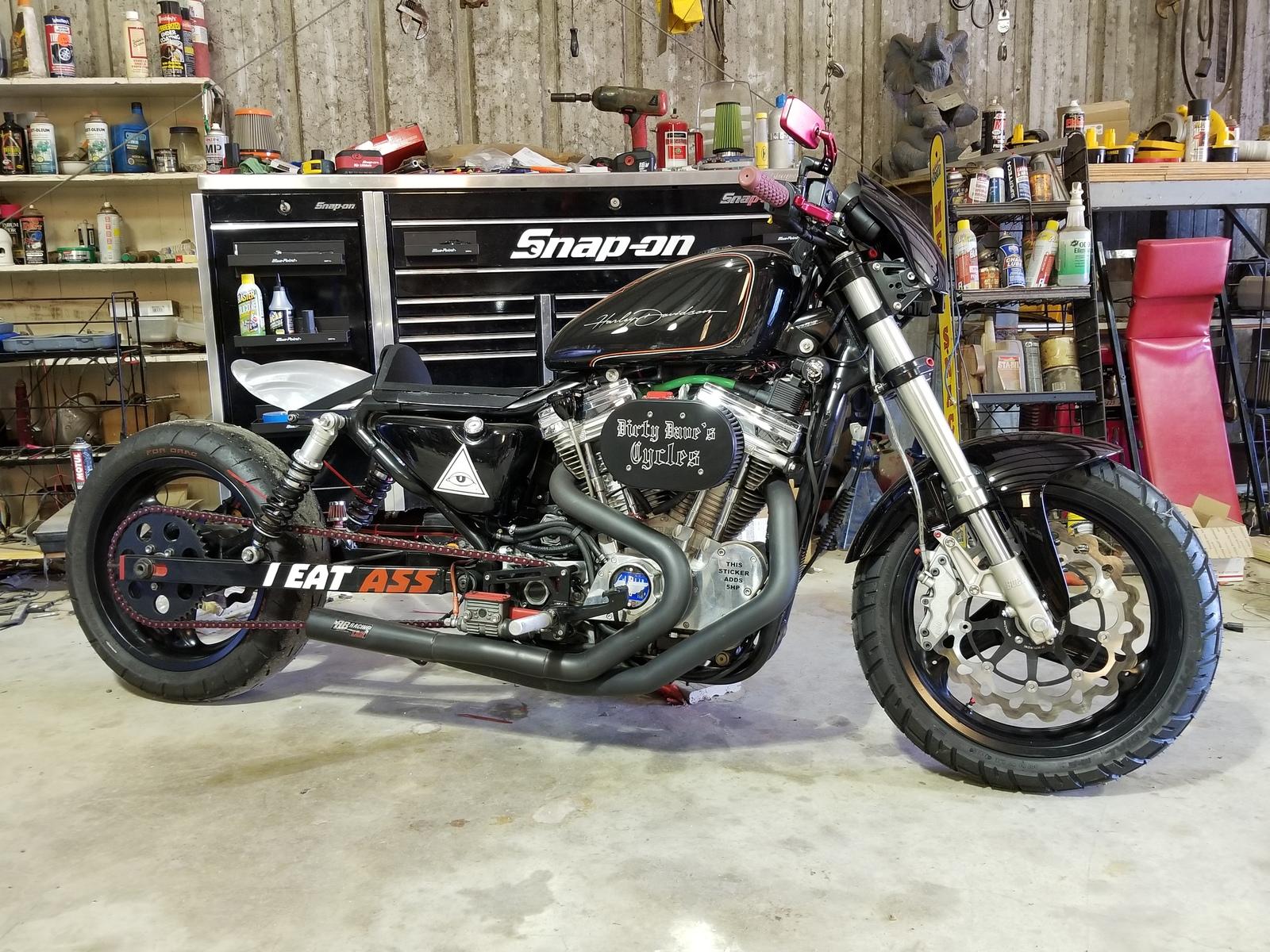 2002 Harley-Davidson Sportster 883 1/4 mile trap speeds 0-60