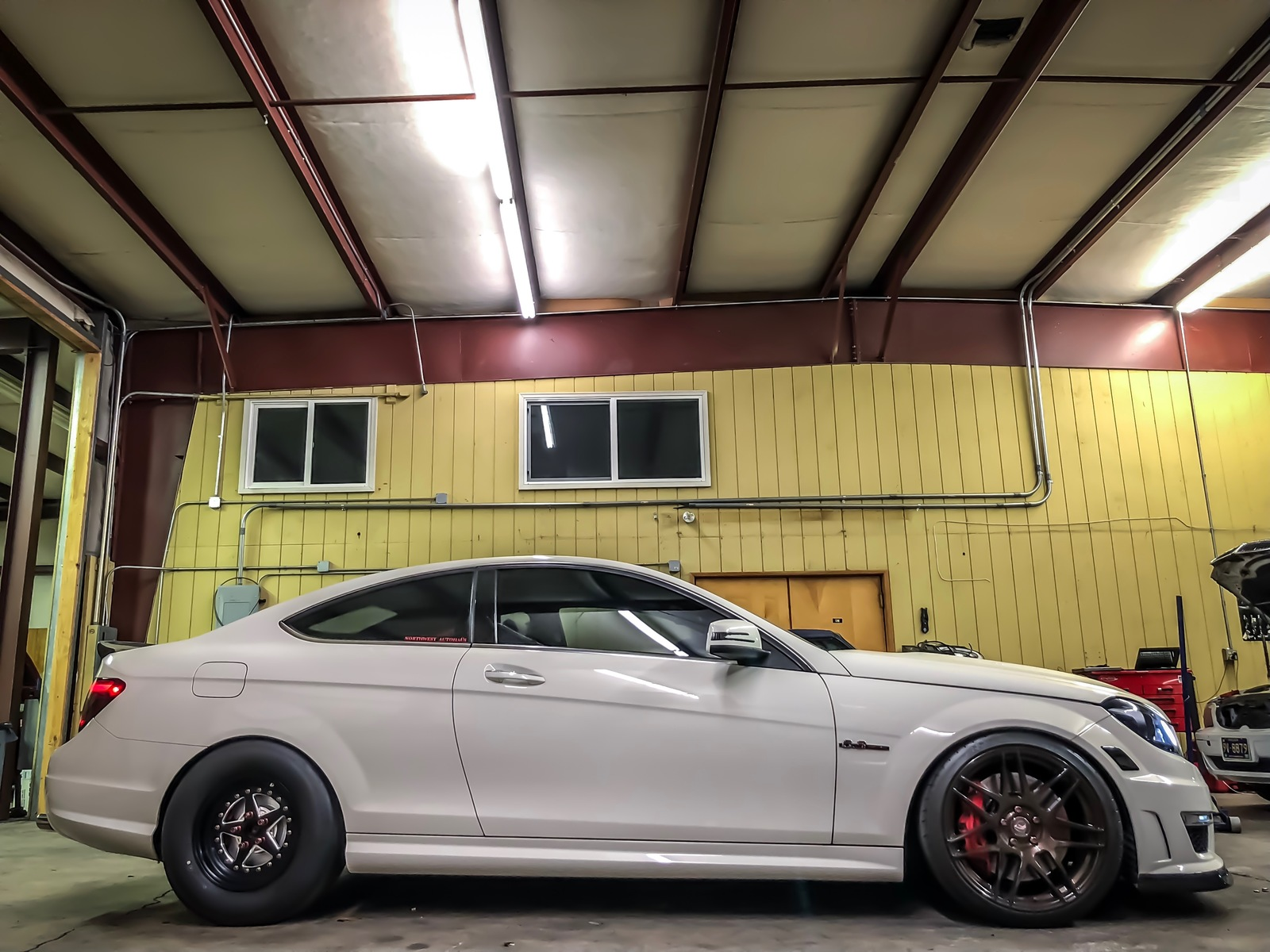 2012 Mercedes-Benz C63 AMG Weistec stage 3 1/4 mile trap