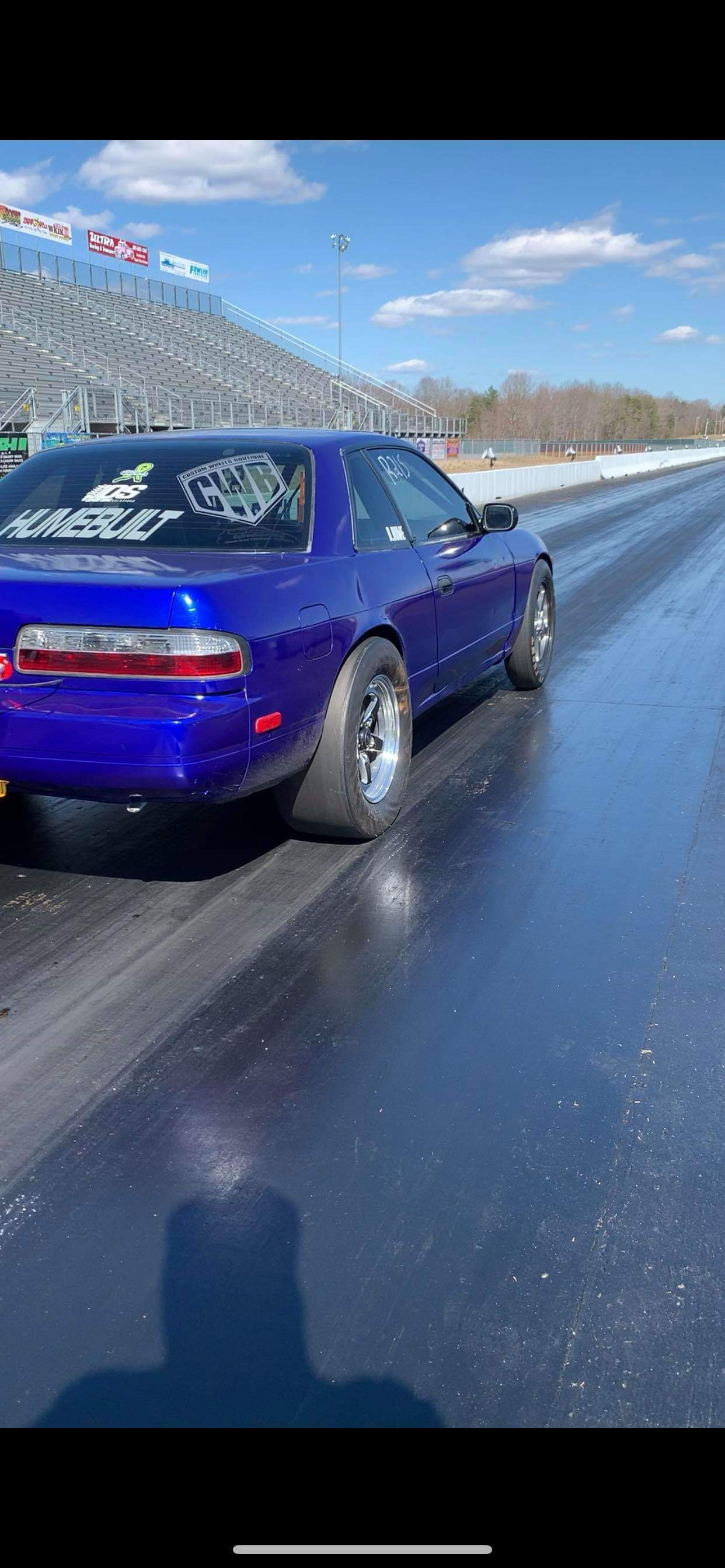 Blue raspberry 1990 Nissan 240SX