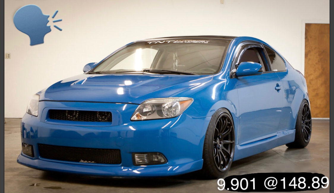 Blue 2006 Scion tC