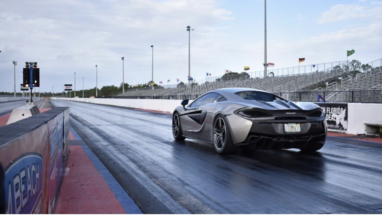 Silver 2016 McLaren 570S Excell Racing
