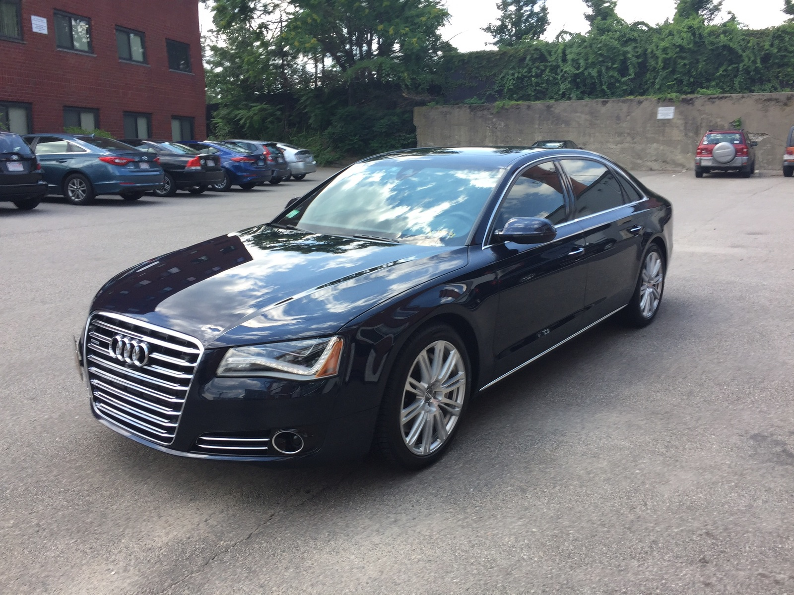 Midnight blue 2014 Audi A8 Long wheel base