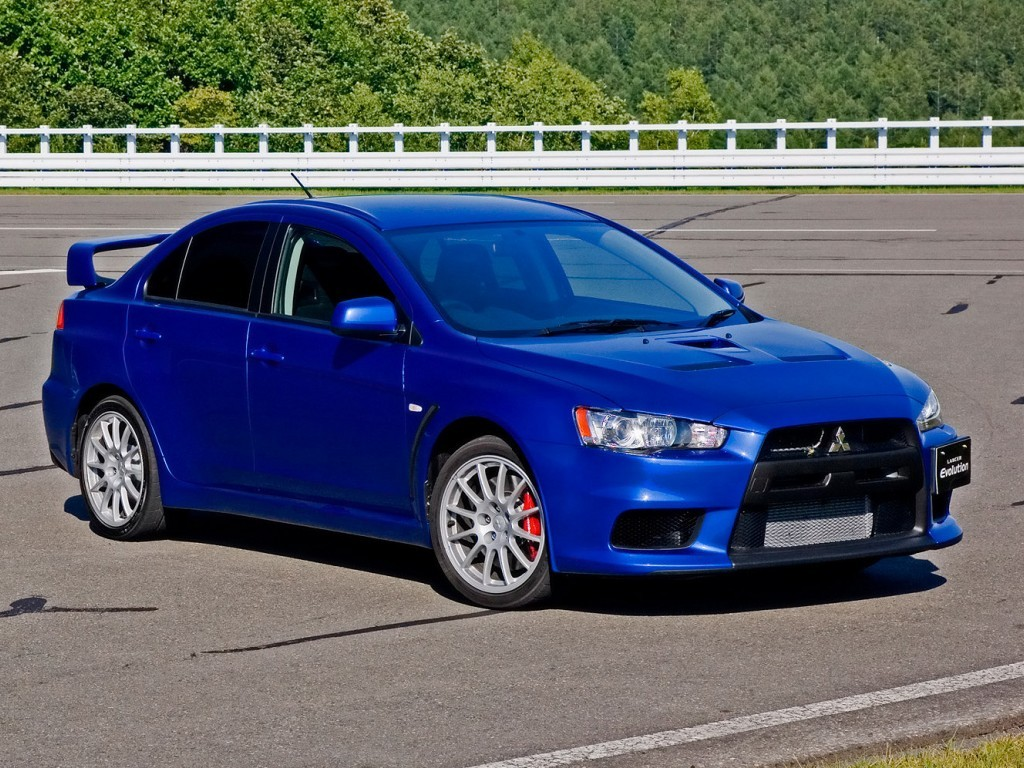 Octane Blue 2015 Mitsubishi Lancer EVO MR