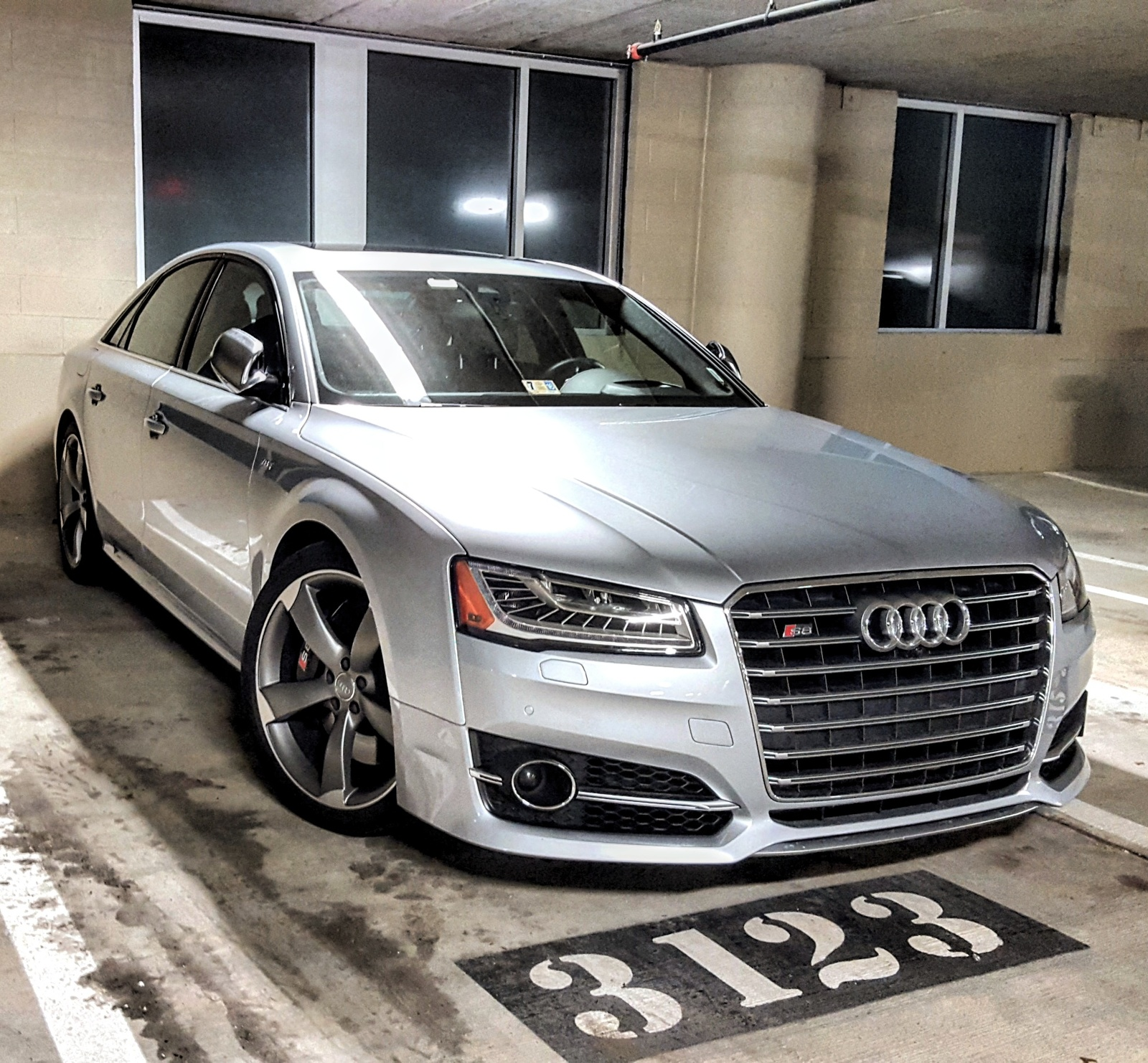 Silver 2015 Audi S8 Apr stage 1 tune