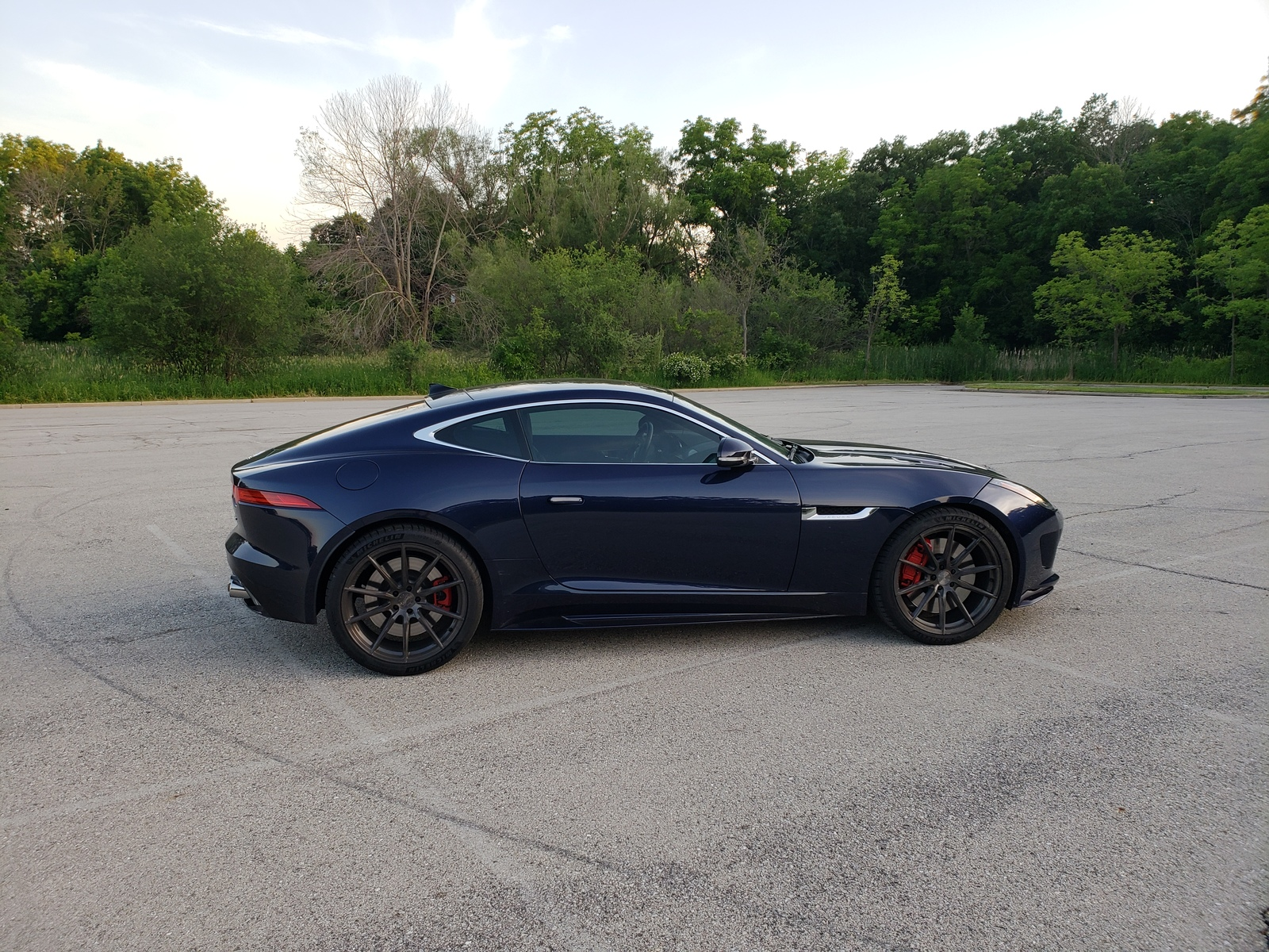 Blue 2016 Jaguar F-Type R