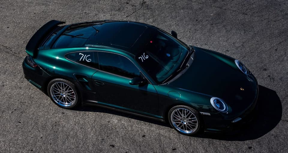 Green 2007 Porsche 911 Turbo
