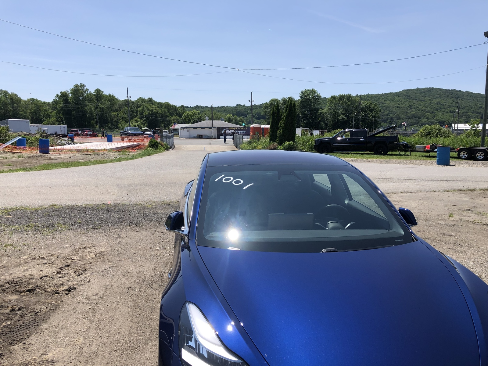 Blue 2018 Tesla Model 3 Dual Motor AWD