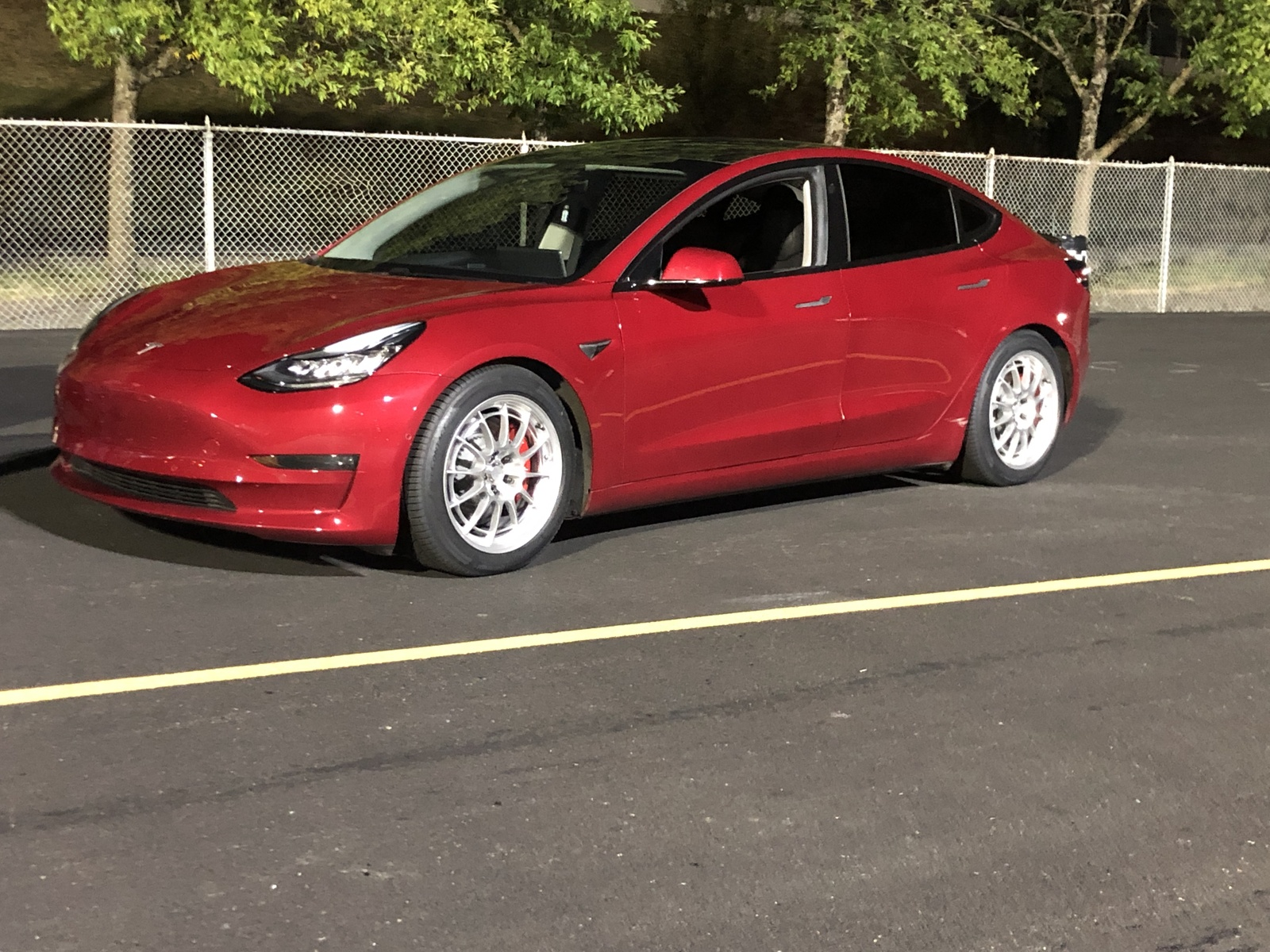 Red 2018 Tesla Model 3 Performance
