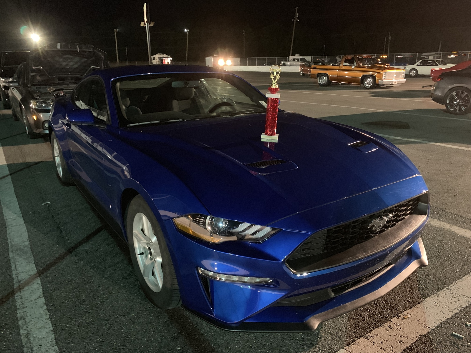Lightning Blue 2018 Ford Mustang EcoBoost Base Auto