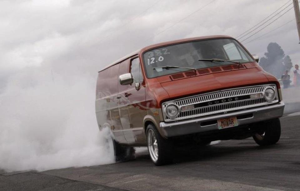 Blazing Copper/Sandstone Metallic 1972 Dodge Ram Van Tradesman 100