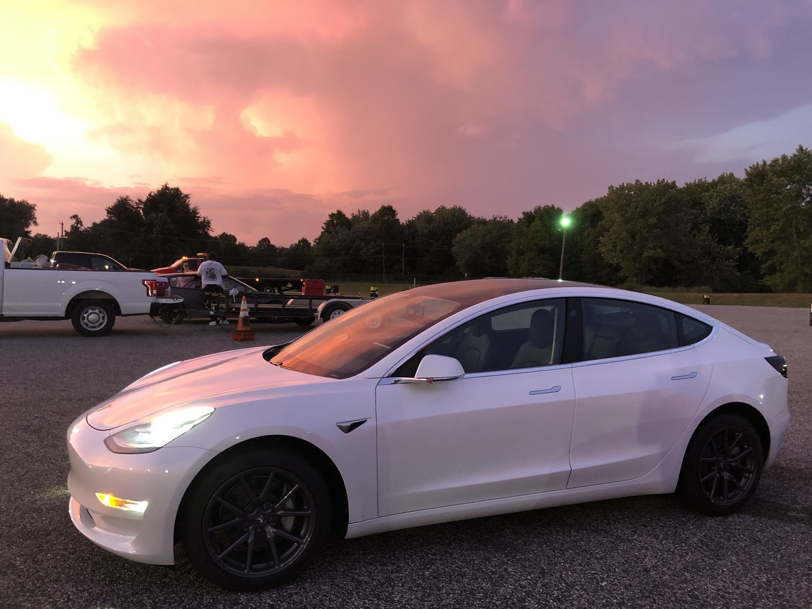 White 2019 Tesla Model 3 Performance Stealth