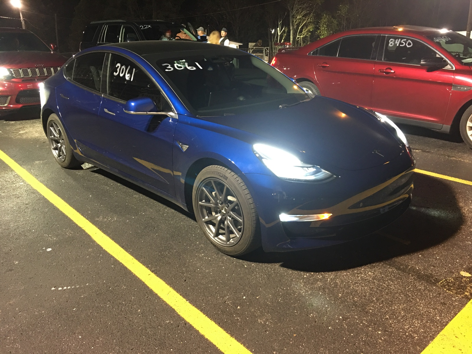 Deep Metallic blue 2019 Tesla Model 3 Performance P3D-