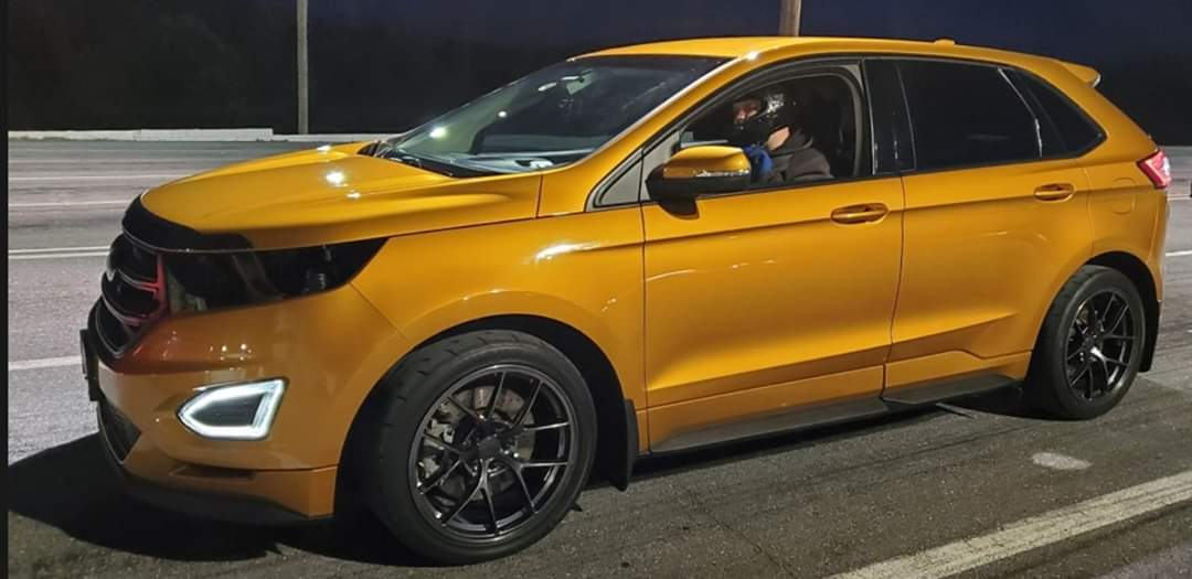 Orange  2016 Ford Edge Sport