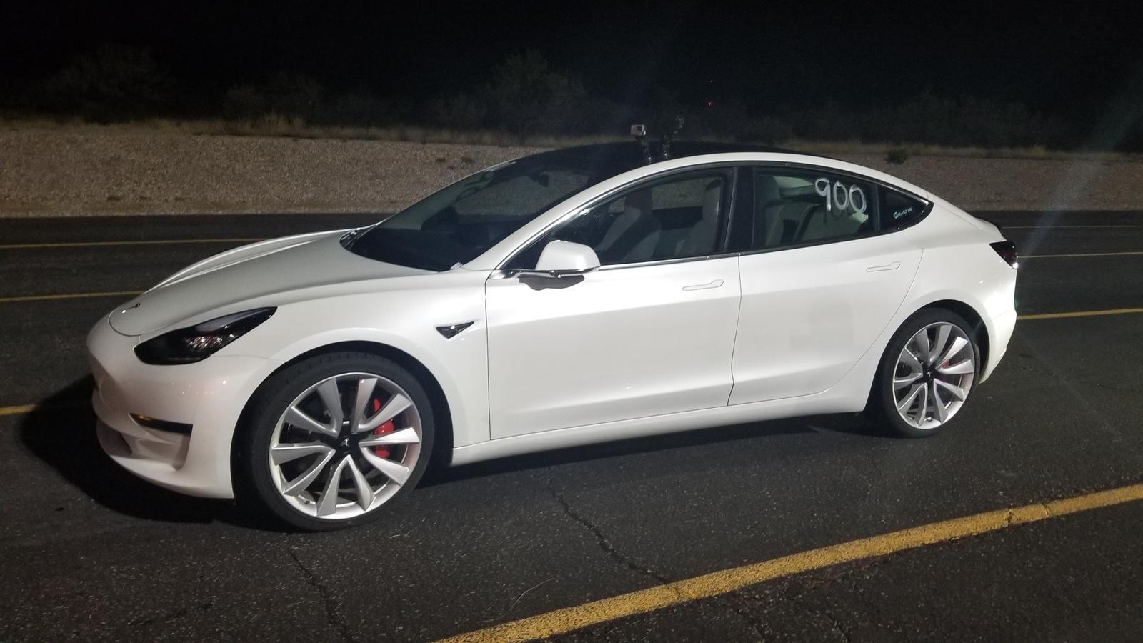 Stock 2019 Tesla Model 3 Performance 1/4 mile trap speeds ...