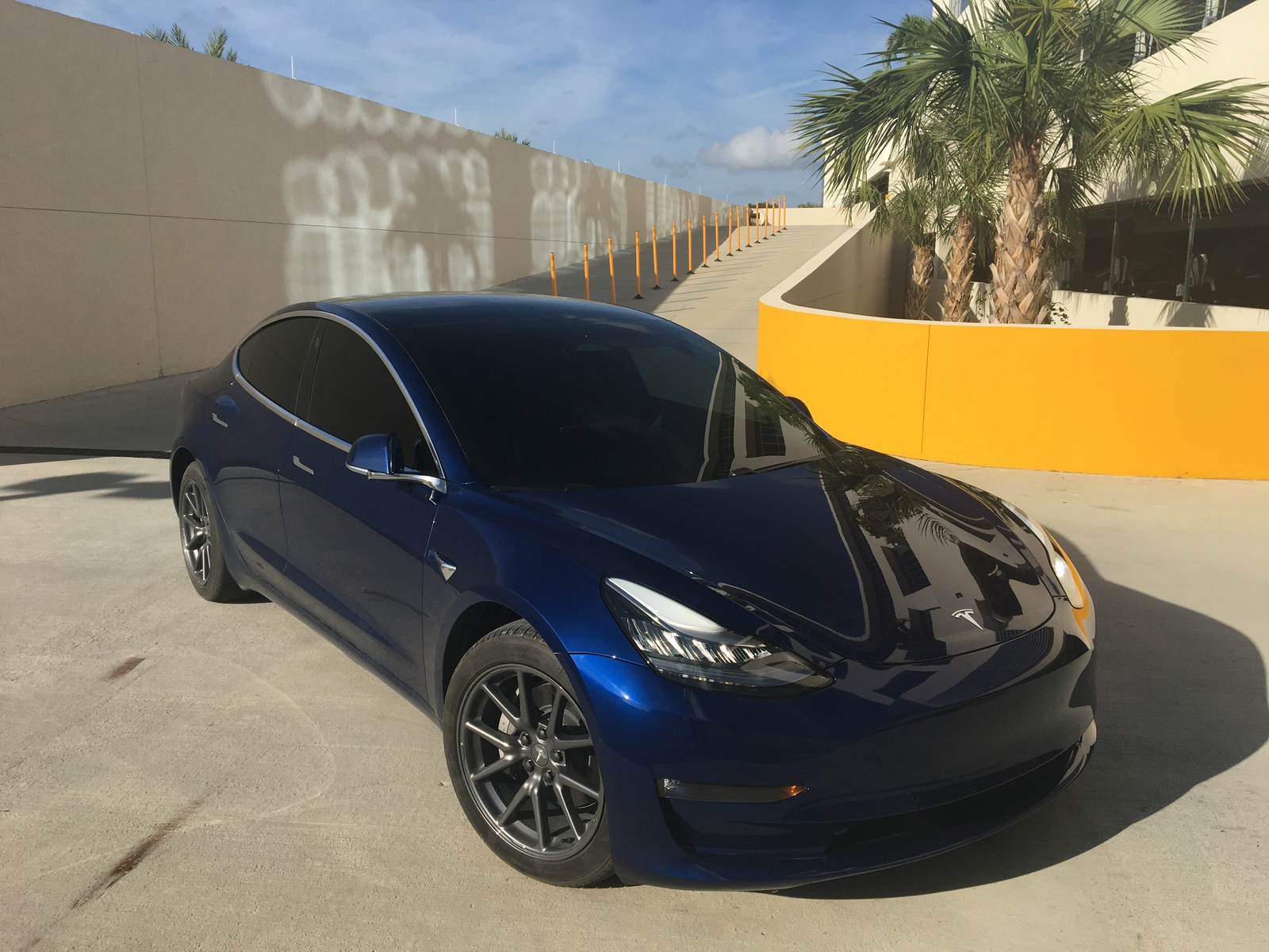 Blue 2020 Tesla Model 3 Performance Stealth