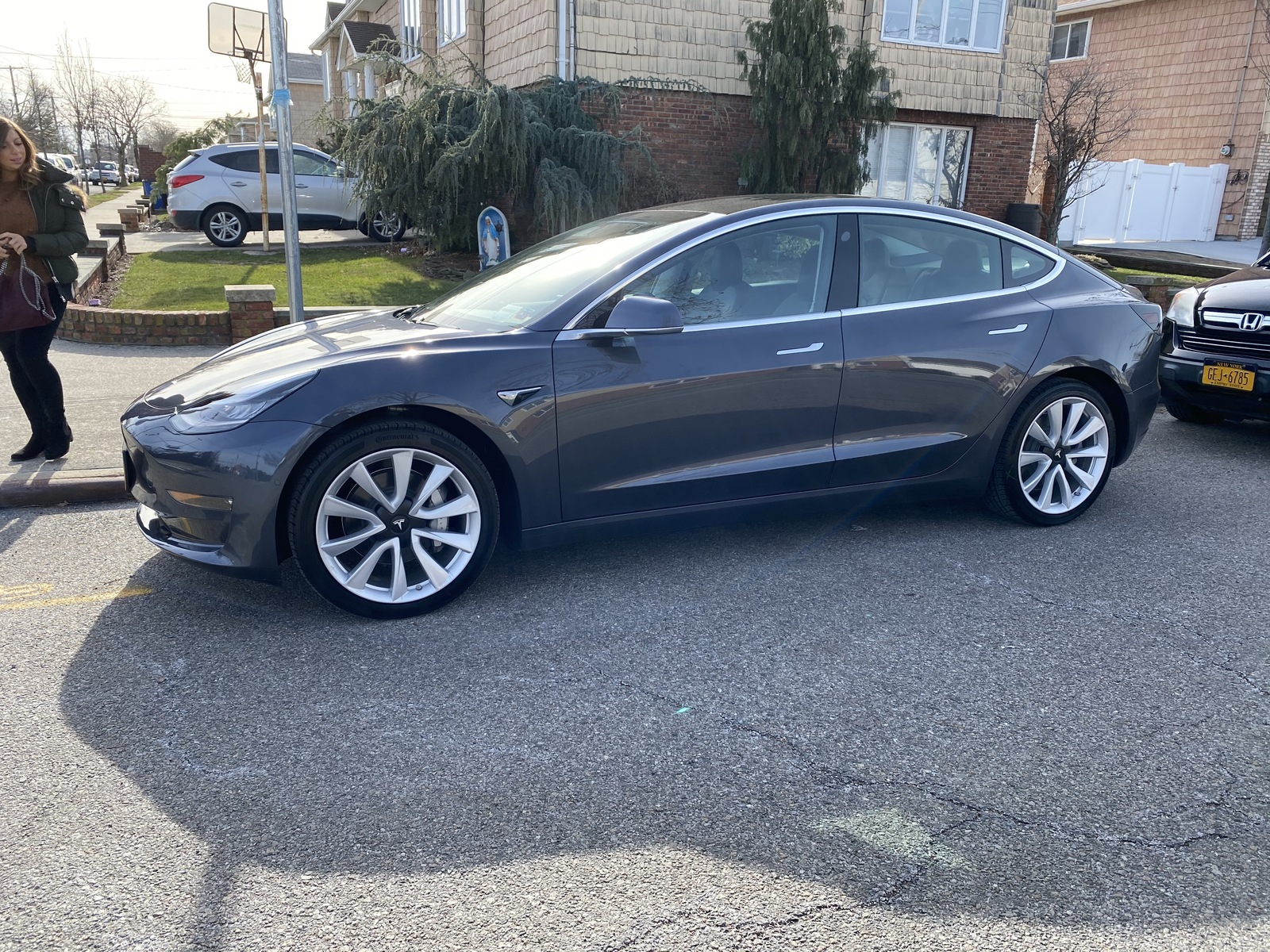 Midnight Silver Metallic 2020 Tesla Model 3 Performance Stealth