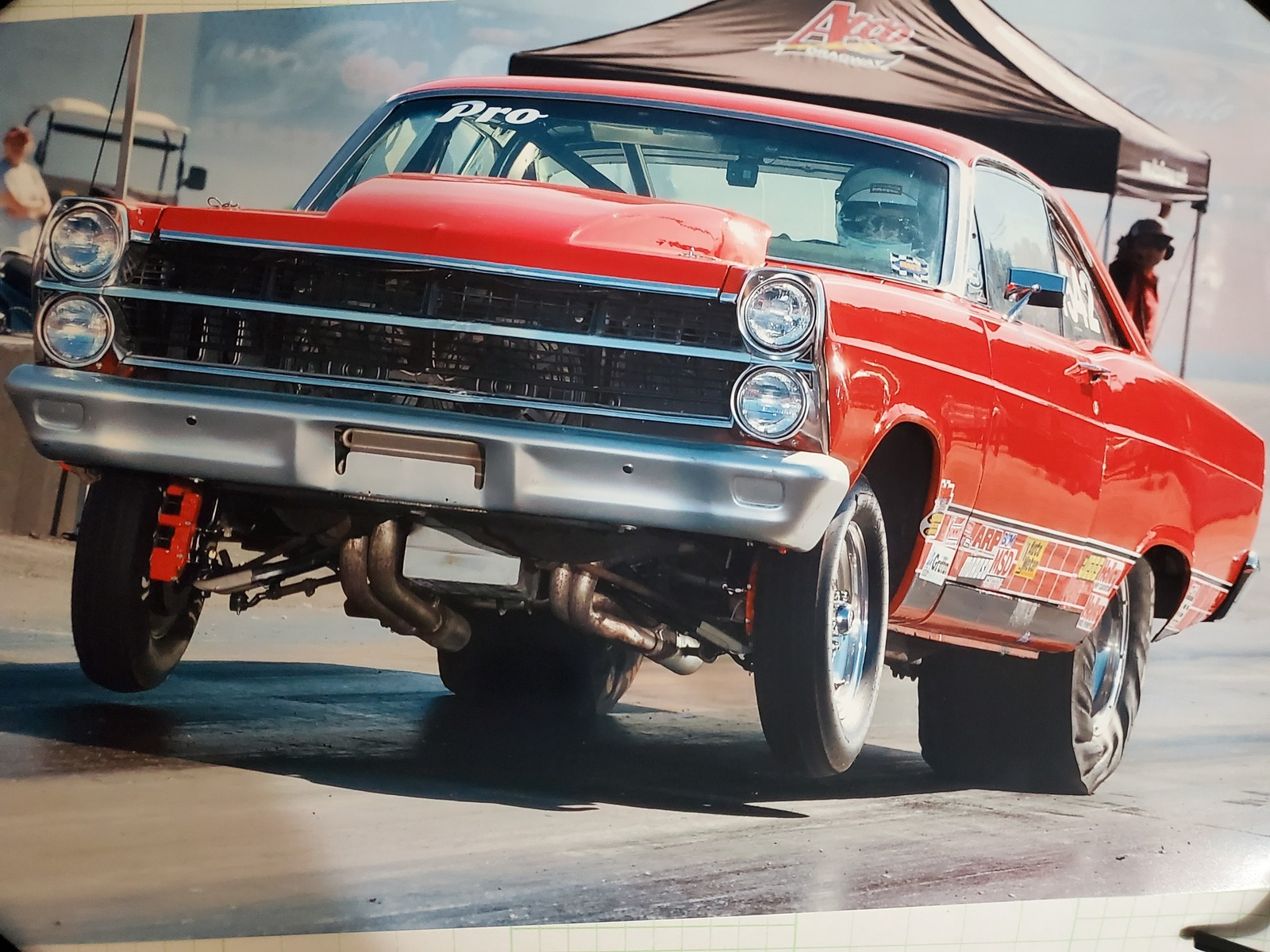 Red 1967 Ford Fairlane 500
