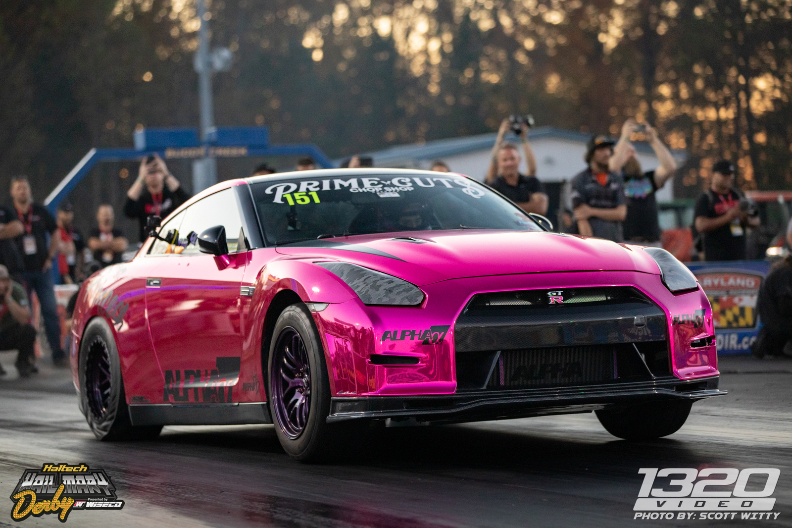 Pink 2009 Nissan GT-R Stock Turbos