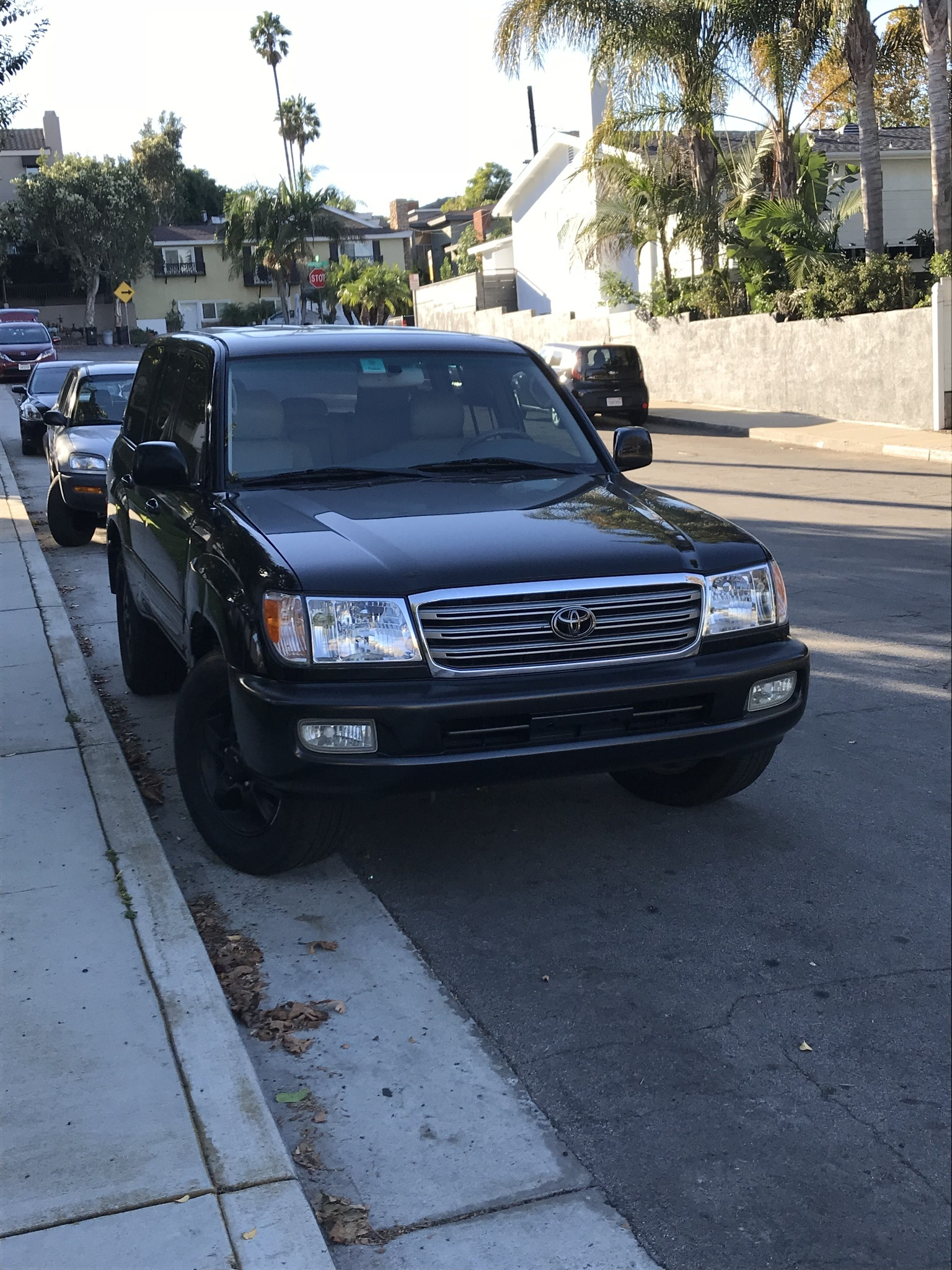 Black 2004 Toyota Land Cruiser