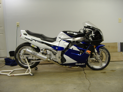 1996 Suzuki GSX-R GSX-R 1100 1/4 mile trap speeds 0-60