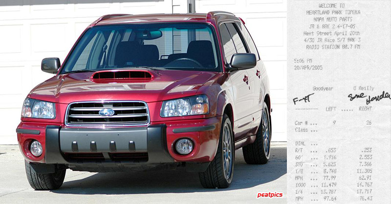 You can vote for this Subaru Forester XT to be the featured car of the month