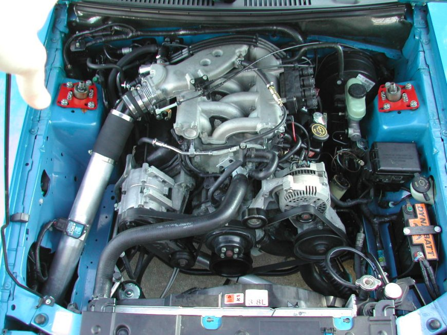 2000  Ford Mustang V6 3.8 litre split port picture, mods, upgrades