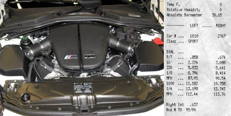 2006 BMW M5 1/4 mile trap speeds 0-60 - DragTimes.com