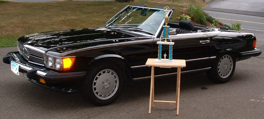Black 1988 Mercedes-Benz 560SL 2dr coup/roadster