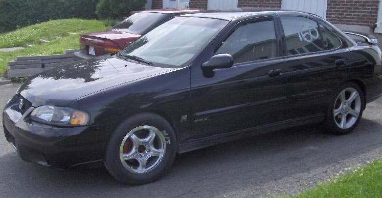 Black 2002 Nissan Sentra Spec V