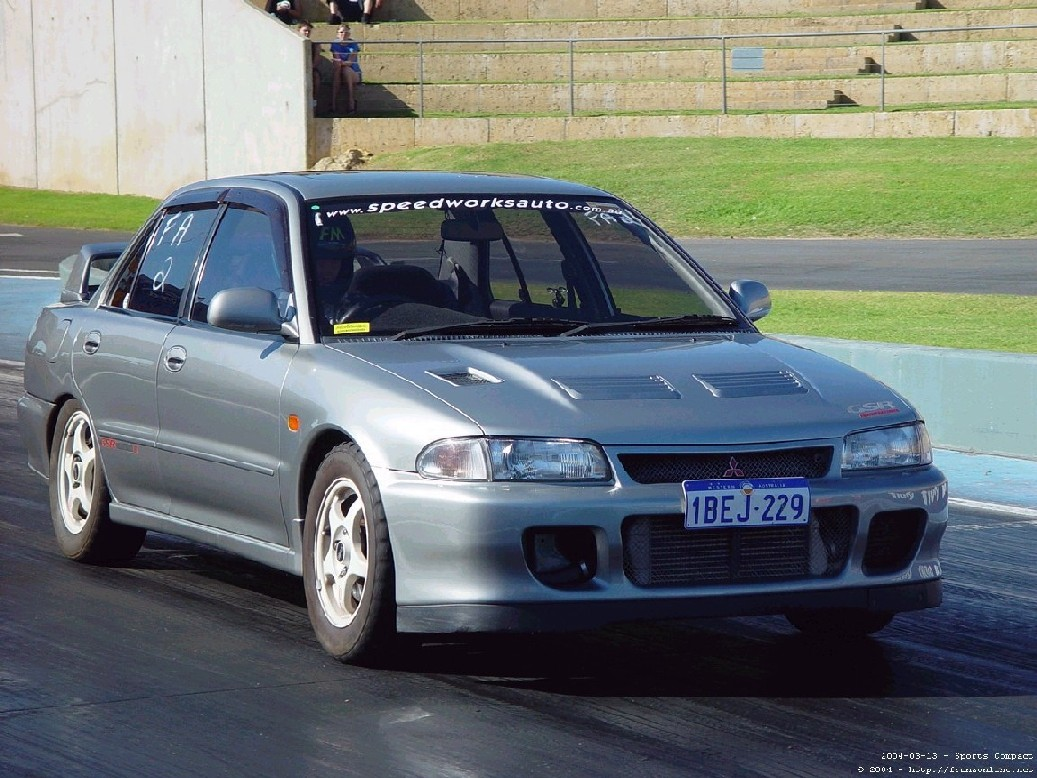 1994 Mitsubishi Lancer EVO Evo 2 1/4 mile trap speeds 0-60 - DragTimes.com