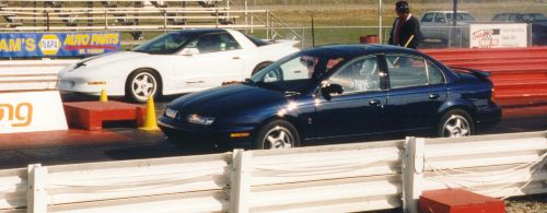 1998 Saturn SL2 14 mile Drag Racing timeslip specs 060