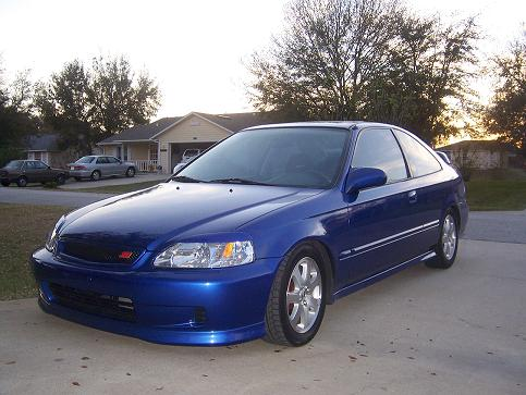 Honda Civic Si 2000 Blue Jdm
